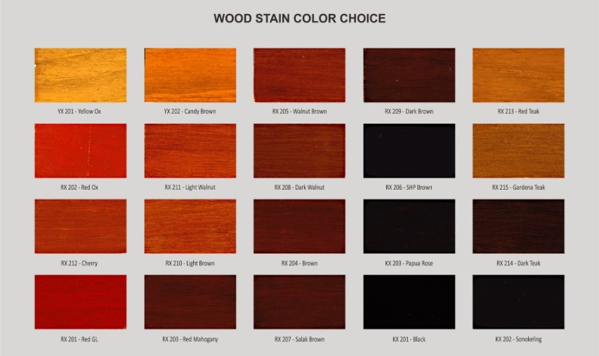 Wood Stain Color Swatch