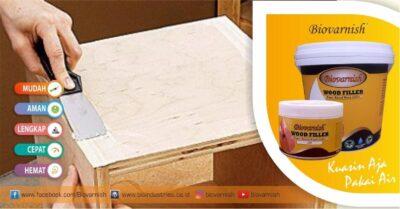 Menggunakan dempul kayu Biovarnish wood filler