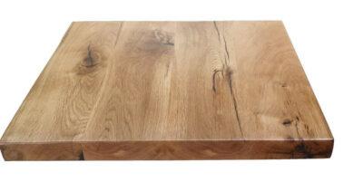 Tampilan kayu oak putih yang belum diberikan wood filler